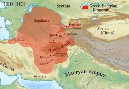 GrecoBactrian Kingdom map